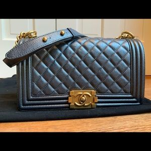 Authentic Chanel boy medium gold hardware
